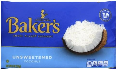 Bakers Unsweetened, Value Size Coconut - 6 oz