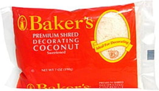 Bakers Premium Shred Decorating Coconut Sweetened