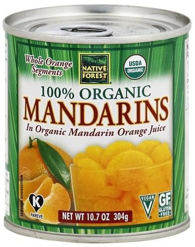 Native Forest 100% Organic Mandarins - 10.7 oz