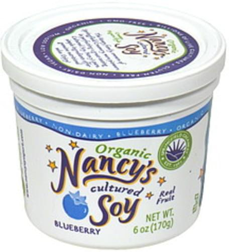 Nancys Blueberry Organic Cultured Soy - 6 oz