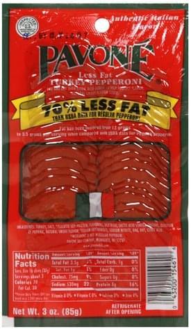 Pavone Turkey Pepperoni - 3 oz