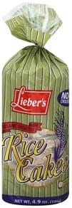 Liebers Rice Cakes Sesame, Unsalted
