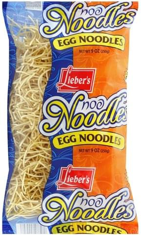 Liebers Egg Noodles - 9 oz, Nutrition Information | Innit
