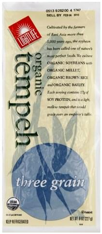 Lightlife Organic, Three Grain Tempeh - 8 oz