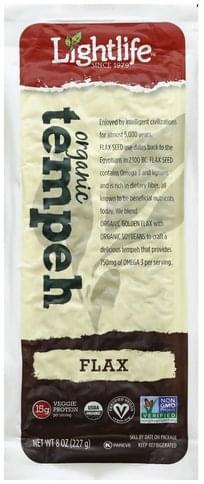 Lightlife Organic, Flax Tempeh - 8 oz