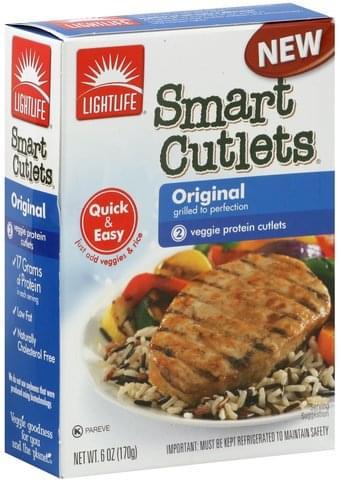 Lightlife Original Veggie Protein Cutlets - 2 ea