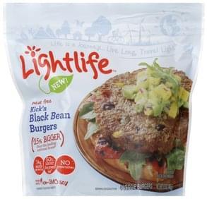 Lightlife Veggie Burgers Kick'n Black Bean