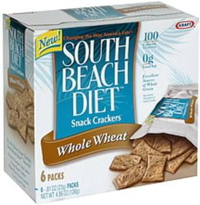 South Beach Diet Snack Crackers Whole Wheat