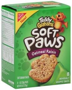 Teddy Grahams Soft Graham Snacks Oatmeal Raisin