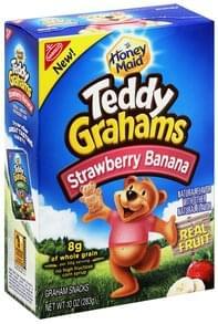 Teddy Grahams Graham Snacks Strawberry Banana