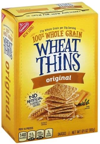 Wheat Thins Original Snacks - 6 4 oz, Nutrition Information