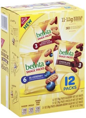 BelVita Blueberry, Chocolate, Cinnamon