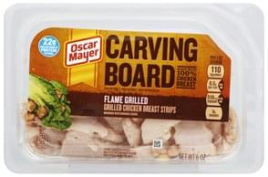 Oscar Mayer Grilled Chicken Breast Strips Flame Grilled
