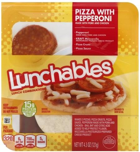 Lunchables Pizza with Pepperoni Lunch Combinations - 4.3 oz