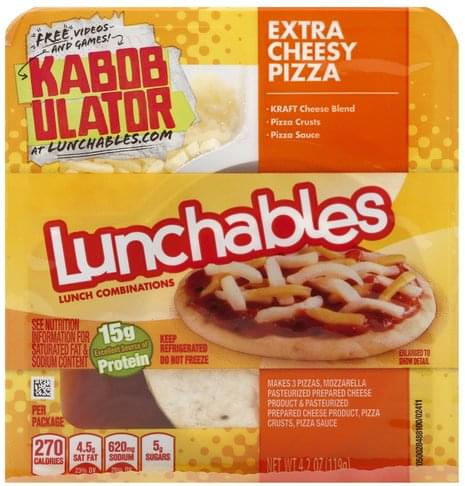 Lunchables Extra Cheesy Pizza Lunch Combinations - 4.2 oz