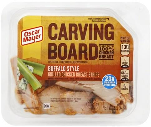 Oscar Mayer Grilled, Buffalo Style Chicken Breast Strips - 5.5 oz