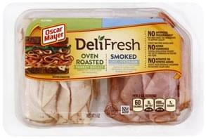 Oscar Mayer Turkey Breast/Uncured Ham Oven Roasted/Smoked, Family Size
