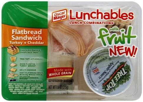 Lunchables Turkey + Cheddar, With Fruit Flatbread Sandwich - 7.6 oz