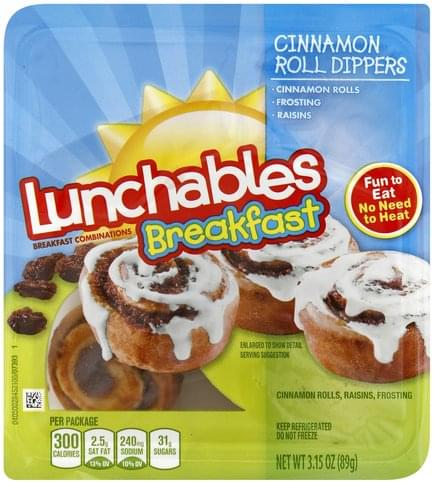Lunchables Cinnamon Roll Dippers Breakfast Combinations - 3.15 oz