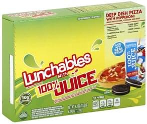 Lunchables Lunch Combinations with 100% Juice, Deep Dish Pizza with Pepperoni