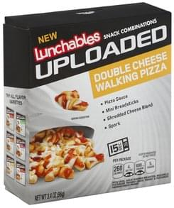 Lunchables Snack Combinations Double Cheese Walking Pizza