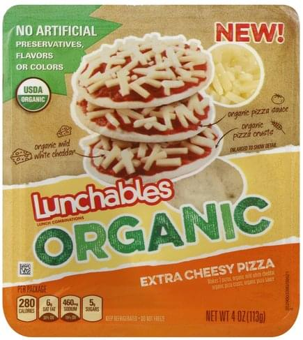 Lunchables Extra Cheesy Pizza Lunch Combinations - 4 oz