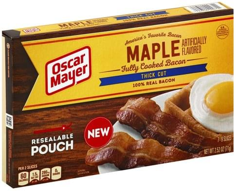 Oscar Mayer Fully Cooked, Maple, Thick