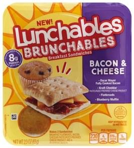 Lunchables Breakfast Sandwiches Bacon & Cheese
