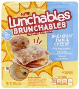 Lunchables Breakfast Sandwiches Ham & Cheese