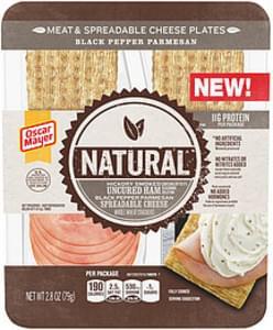 Oscar Mayer Oscar Mayer Natural Black Pepper Parmesan Meat & Spreadable Cheese Plates Natural Black Pepper Parmesan