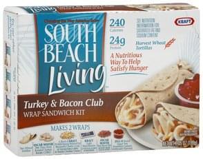 South Beach Living Wrap Sandwich Kit Turkey & Bacon Club