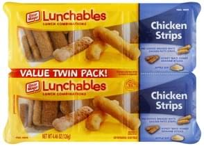 Lunchables Lunch Combinations Chicken Strips, Value Twin Pack