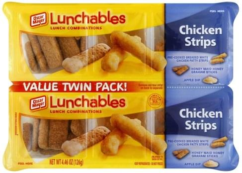 Lunchables Chicken Strips, Value Twin Pack Lunch Combinations - 2 ea