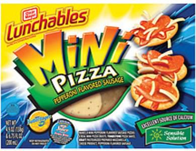 Oscar Mayer Lunchables Mini Pizza Pepperoni Flavored Sausage