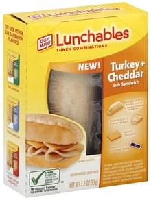 Lunchables Lunch Combinations Sub Sandwich, Turkey + Cheddar
