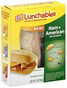Lunchables Lunch Combinations Sub Sandwich, Ham + American