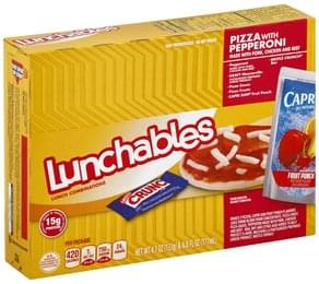 Lunchables Lunch Combinations Pizza with Pepperoni, Fun Pack