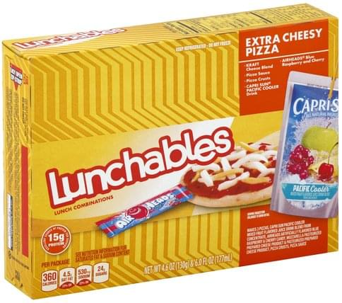 Lunchables Extra Cheesy Pizza Lunch Combinations - 1 ea