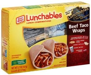 Lunchables Lunch Combinations Taco Wraps, Beef, Fun Pack