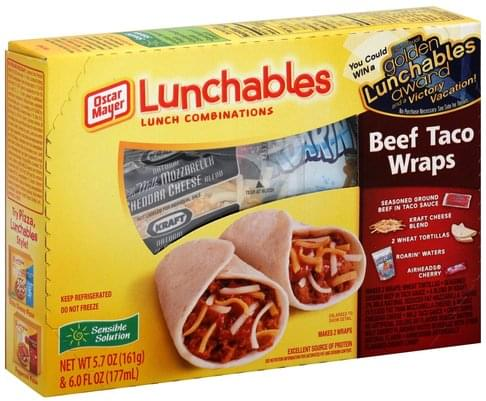Lunchables Taco Wraps, Beef, Fun Pack Lunch Combinations - 1 ea