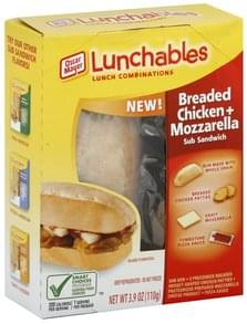 Lunchables Lunch Combinations Sub Sandwich, Breaded Chicken + Mozzarella