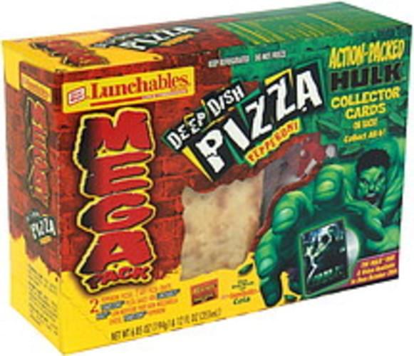 Lunchables Deep Dish Pizza, Pepperoni, Mega Pack, Bonus Lunch Combinations - 1 ea