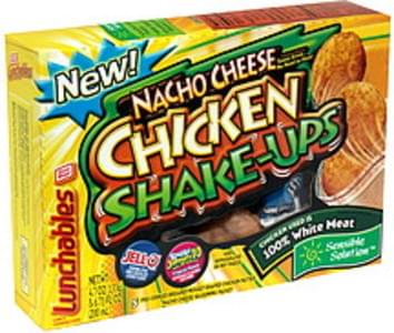 Lunchables Lunch Combinations Chicken Shake Ups, Nacho Cheese