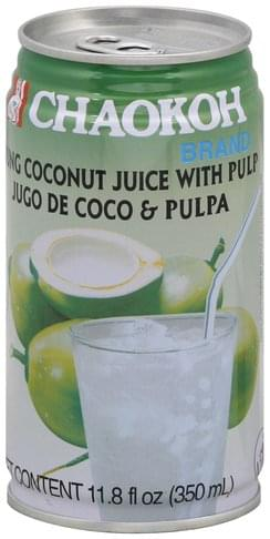 Chaokoh Young, with Pulp Coconut Juice - 11.8 oz
