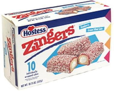 Hostess Raspberry Zingers - 10 ea, Nutrition Information | Innit