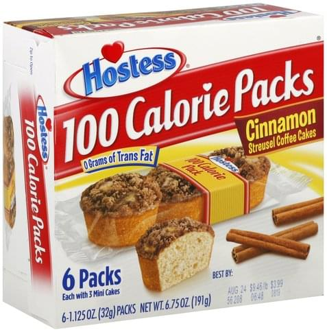 Hostess Cinnamon Streusel Coffee Cakes - 6 ea
