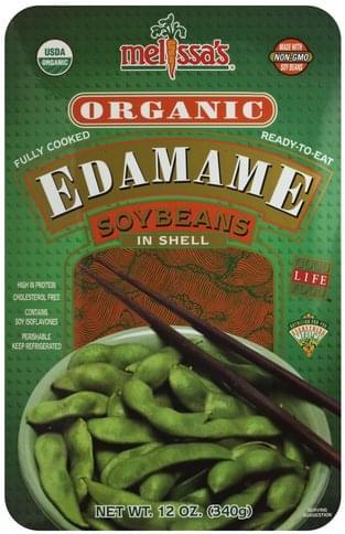 Melissas Organic, Soybeans in Shell Edamame - 12 oz