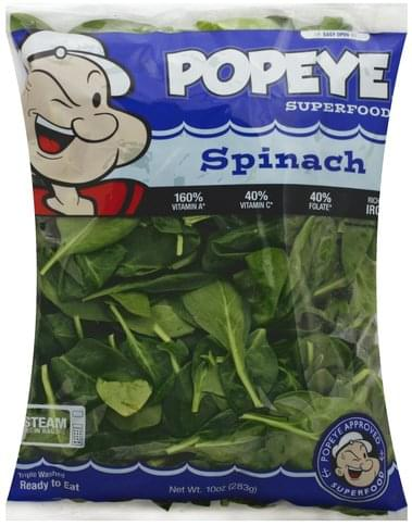 Popeye Spinach - 10 oz