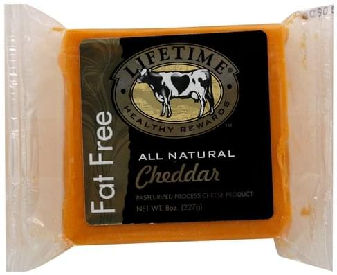 Lifetime Pasteurized Process, Cheddar Cheese Product - 8 oz