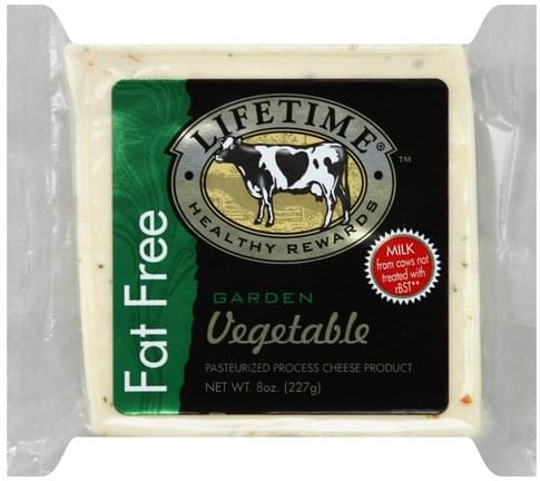 Lifetime Garden Vegetable, Fat Free Cheese - 8 oz